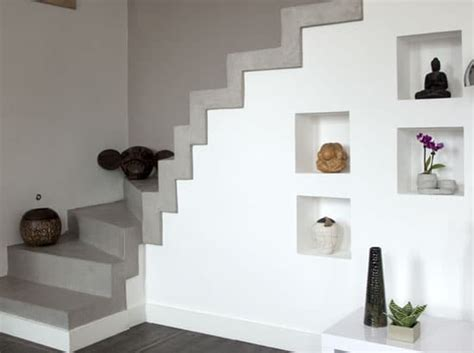 bureau beton cir déco moderne un escalier un béton ciré