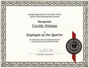 employee of the quarter my certificate With employee of the quarter certificate template