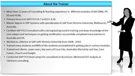 Sap Fico Trainer Resume by Sap Fico Sap Fico Certification Zarantech