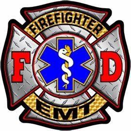 Firefighter/EMT Diamond Plate Maltese Decal Firefighter