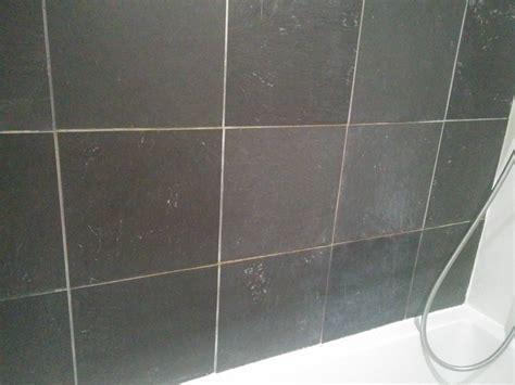 Bathroom slate tile stain/decoloration   Home Improvement