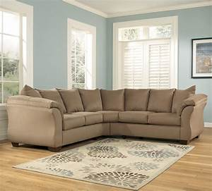 signature design by ashley darcy mocha contemporary With sectional sofa hom furniture