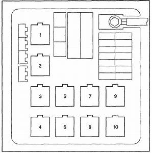 2001 Isuzu Vehicross Fuse Panel Diagram