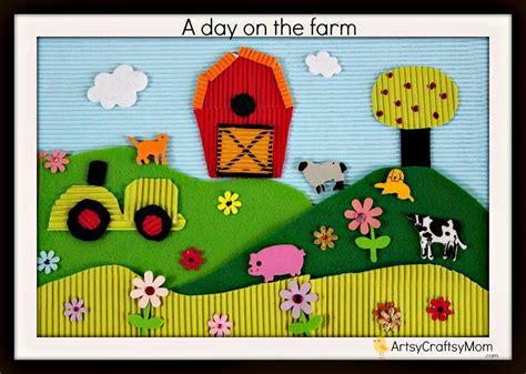 life   farm thematic collage  kids artsy