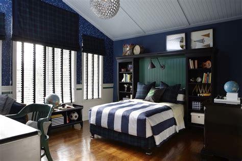deco chambre bleu et marron deco chambre ado garcon papier peint bleu fonc
