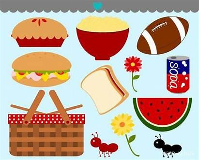 Picnic Clipart Clip Cartoon Bbq Picnics Cliparts