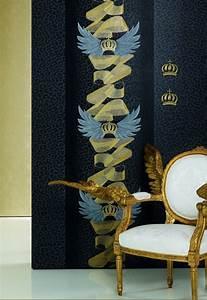 tapeten dekoelement harald gloockler krone gold 52718 With balkon teppich mit harald glööckler tapeten kollektion