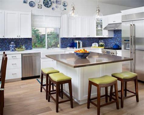 L Shaped Kitchen Layout Ideas - square kitchen island houzz