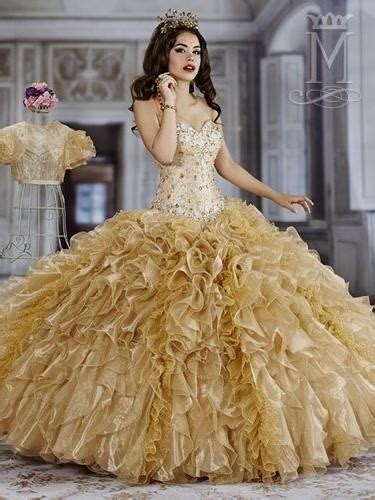 gold dresses  quinceanera