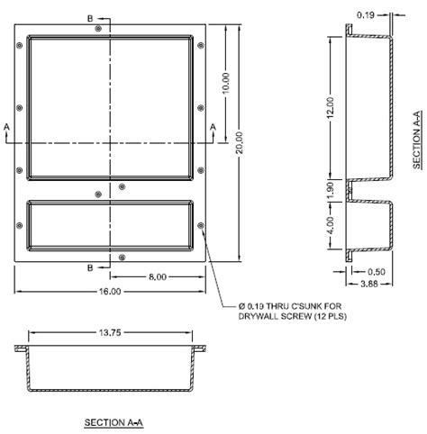 Tile Redi Niche Thinset by Tile Redi Rn1620d Bi 16 Quot X 20 Quot Niche Shower Shelf
