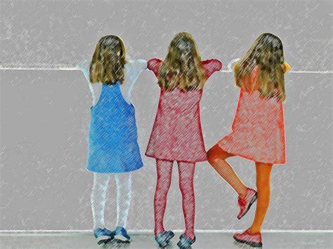 die drei maedchen foto bild kinder kinder im
