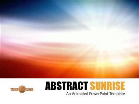 abstract sunrise  powerpoint template