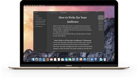write  elegant distraction  writing app
