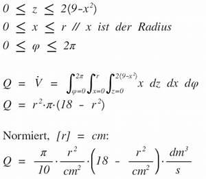 Fließgeschwindigkeit Berechnen : integral volumen des wassers im rohr mit integral berechnen fliessgeschwindigkeit v x 2 9 ~ Themetempest.com Abrechnung