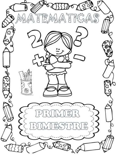 bonitas portadas de materias o asignaturas material educativo dibujos portadas