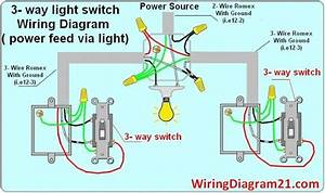 3 Way Light Switch Wiring Diagram Circuit Electrical
