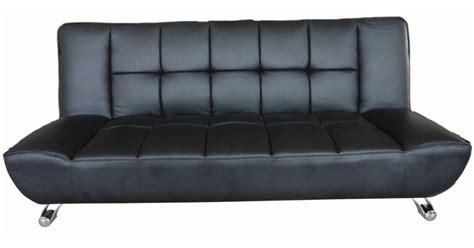 black leather bed settee vogue faux leather black sofa bed