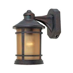motion activated outdoor wall light with photocell sensor