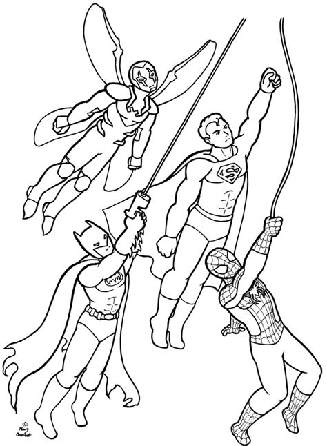 dc superhero coloring pages   print