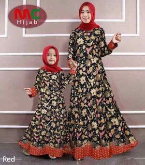 baju gamis couple ibu mama anak motif batik modern model terbaru ryn fashion