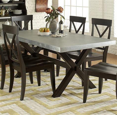 metal top dining table liberty furniture keaton ii rectangle trestle dining table 7819