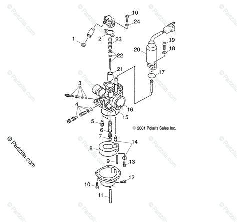 Polaris Atv Oem Parts Diagram For Carburetor