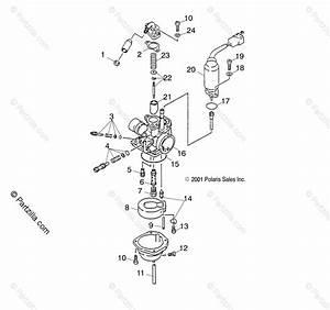 Polaris Atv 2001 Oem Parts Diagram For Carburetor