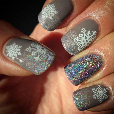 snowflake nail art designs  winter nail designs