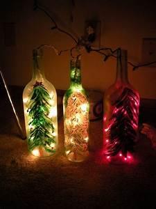 Christmas, Wine, Bottle, Lights, U00b7, A, Bottle, Lamp, U00b7, Glasswork, Electronics, And, Decorating, On, Cut, Out
