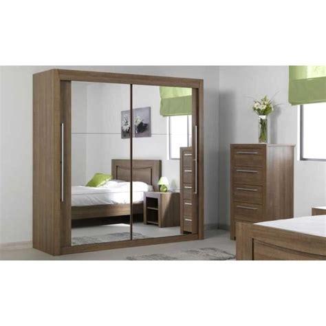 porte de chambre en bois pas cher armoire coulissante bora bois portes miroirs achat vente