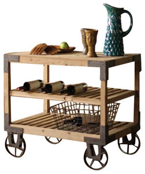 industrial kitchen island cart rolling dining cart industrial kitchen islands and 4667
