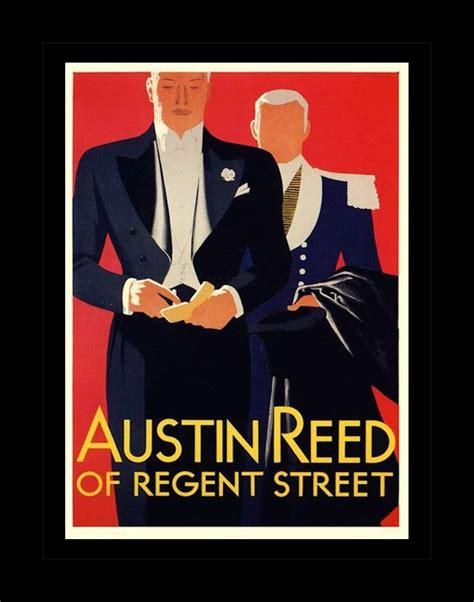 vintage austin reed ad illustration poster gift  men