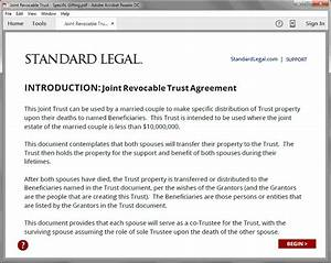 revocable living trust legal forms software standard legal With best legal document software