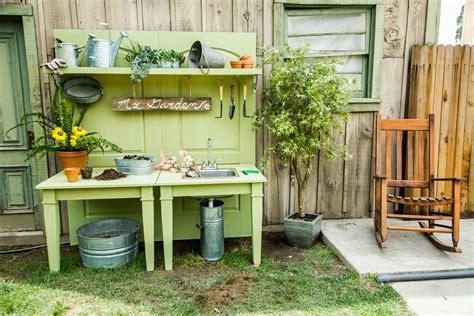 ultimate diy potting bench home family hallmark