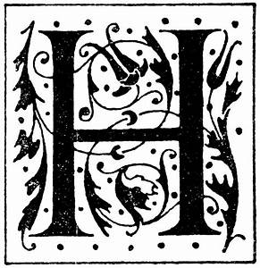 h ornate clipart etc With decorative letter h