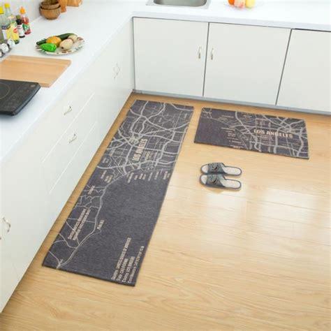 tapis de cuisine gris lot de 2 tapis de cuisine devant évier 45 x 120cm 40 x 60cm tapis passage couloir antidérapant