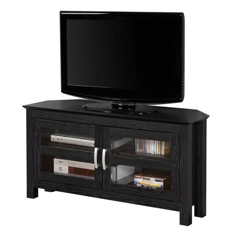 2018 Best Of Black Wood Corner Tv Stands