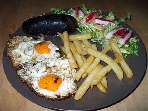 foodies recette cuisine recette de plato combinado morcillas con huevos