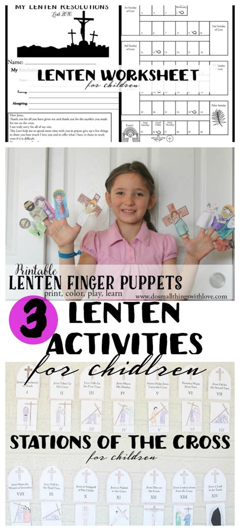 lenten bundle for 3 printable activities do small 345 | 3 Lenten Activities for Children