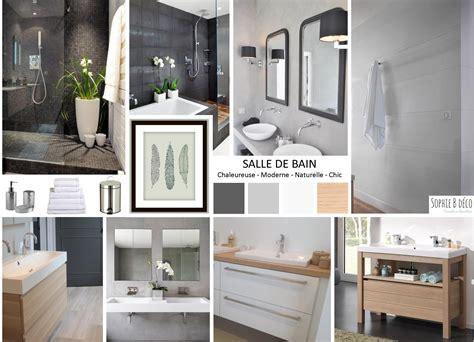 cuisine salle de bain r 195 169 novation en gris blanc et bois carrelage salle de bain ambiance spa