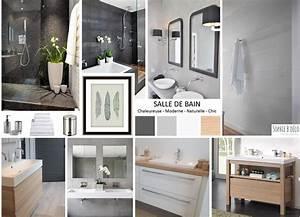 Deco Bois Et Blanc : salle de bain r novation en gris blanc et bois ~ Melissatoandfro.com Idées de Décoration