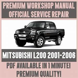 Mitsubishi Triton L200 Digital Workshop Repair Manual 1997 2002