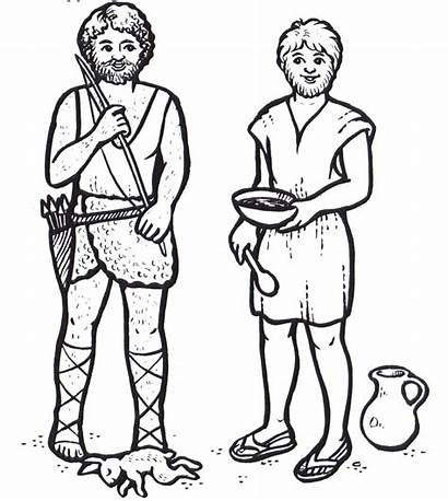 Jacob Esau Coloring Pages Bible Crafts Story