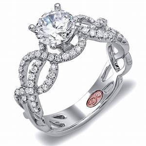 Designer engagement rings dw6099 for Wedding rings designers