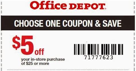 Office Depot Coupons For Printer by Office Depot Printable Coupons November 2016