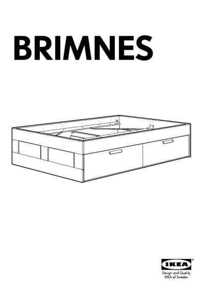 Ikea Bed Gebruiksaanwijzing by Ikea Brimnes Bed Frame W Storage Fu Furniture