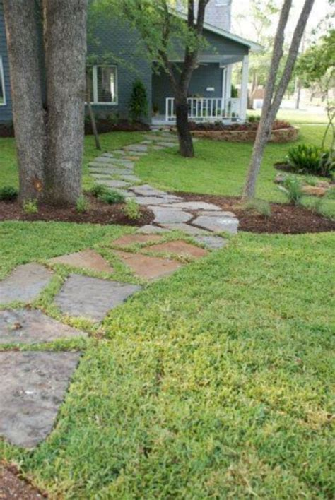 simple  beautiful front yard pathways landscaping