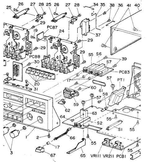 Diagram Of Audio Cassette by Cassette Mechanism Diagram Parts List For Model