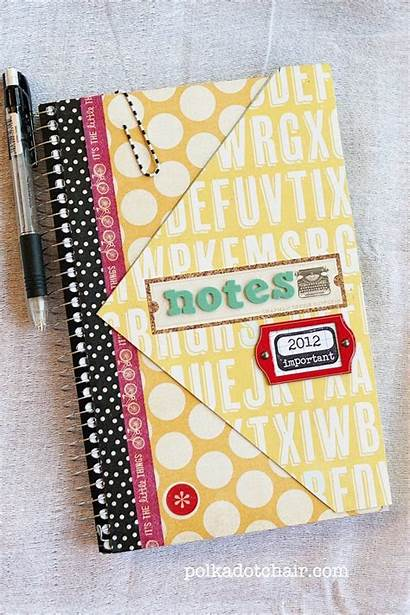 Notebook Spiral Diy Simple Notebooks Redo Scrapbook