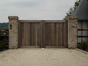 Portail En Bois : pose de portail bois de haute qualit parrillero ~ Premium-room.com Idées de Décoration